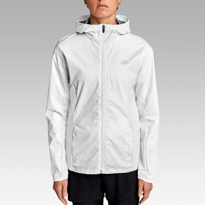 Lauf-Regenjacke Run Rain Damen weiß