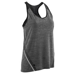 Camiseta Sin Mangas Running Kalenji Run Light Mujer Gris
