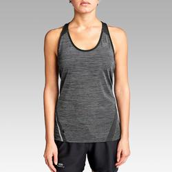 Camiseta Tirantes Running Kalenji Run Light Mujer Gris
