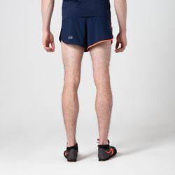 Pantalon Corto Deportivo Atletismo Kalenji Split Hombre Azul/Naranja