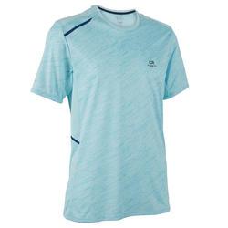 男款跑步T恤RUN DRY+藍色