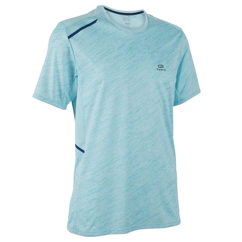 REGULAR MAN JOG WARM/MILD WTHR CLOTHES Clothing - RUN DRY+ T-SHIRT M pastel blue KALENJI - Tops