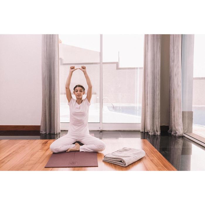 Damesbroek in biokatoen voor zachte yoga wit