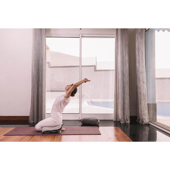 Manta Yoga Domyos Doble Cara Gris Jaspeado Negro xl