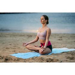 Top Sujetador Deportivo Yoga Domyos Sin costuras Mujer Rosa Pálido