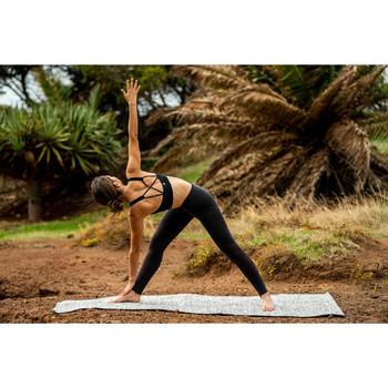 Bustier für sanftes Yoga nahtlos schwarz