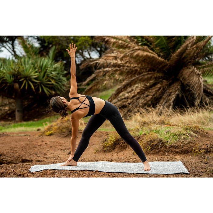 Naadloze legging zachte yoga gemêleerd bordeaux