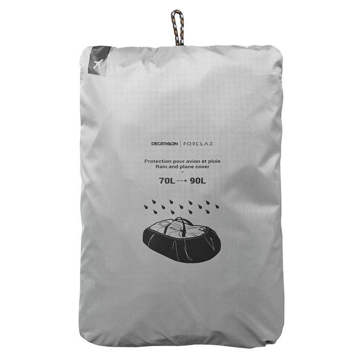 Regen- en vliegtuighoes voor trekrugzak van 70 tot 90 liter