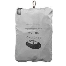 Regen- en vliegtuighoes voor trekrugzak van 40 tot 60 liter
