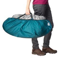 Funda Lluvia Cubremochila Impermeable Montaña Trekking Forclaz 70 90 Litros Azul
