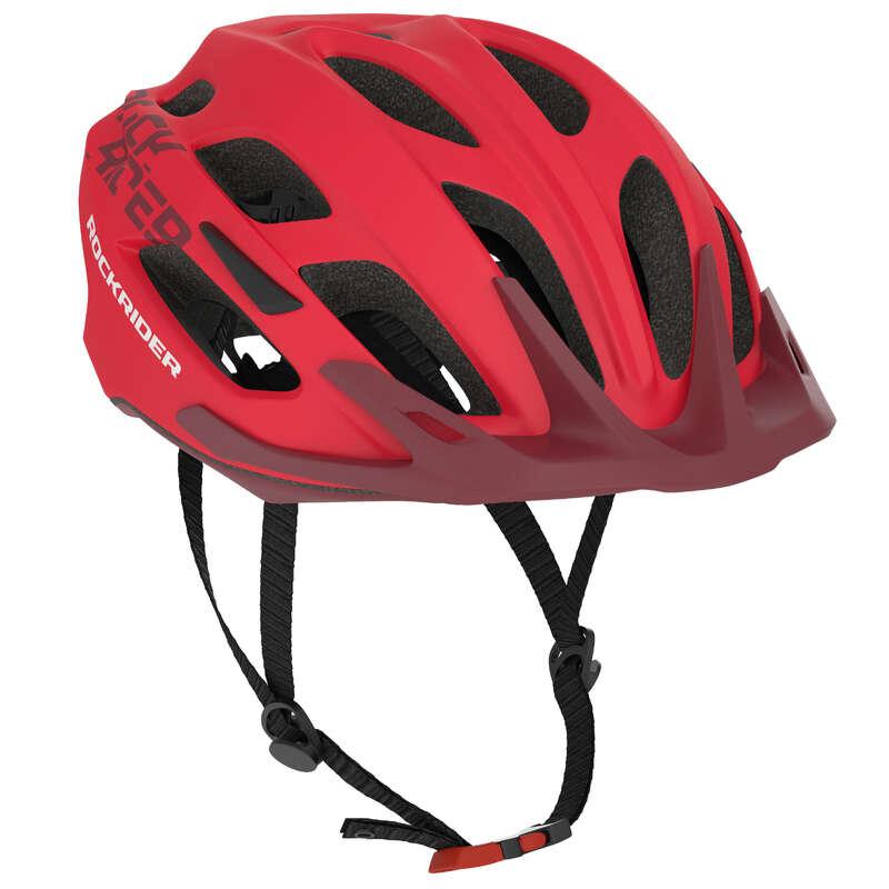 SPORT TRAIL MTB HELMETS ADULT Cycling - ST 500 MTB Helmet - Red ROCKRIDER - Cycling
