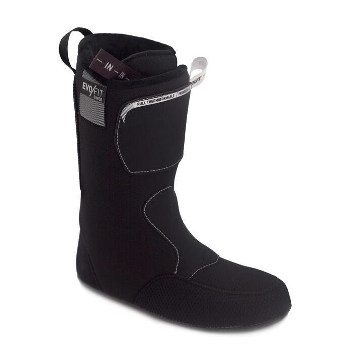 Chausson de Chaussure de ski EVOFIT noir et blanc