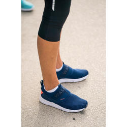 Zapatillas de Marcha Deportiva Newfeel PW 160 cierre elástico mujer azul marino