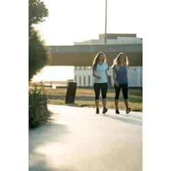 Damessneakers voor sportief wandelen PW 140 kaki / roze