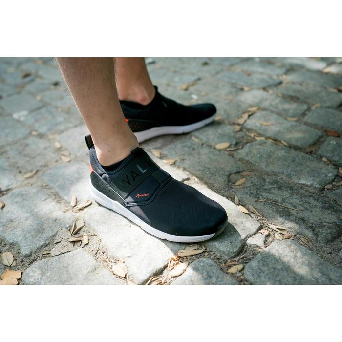 Herensneakers voor sportief wandelen PW 160 Slip-On zwart / oranje