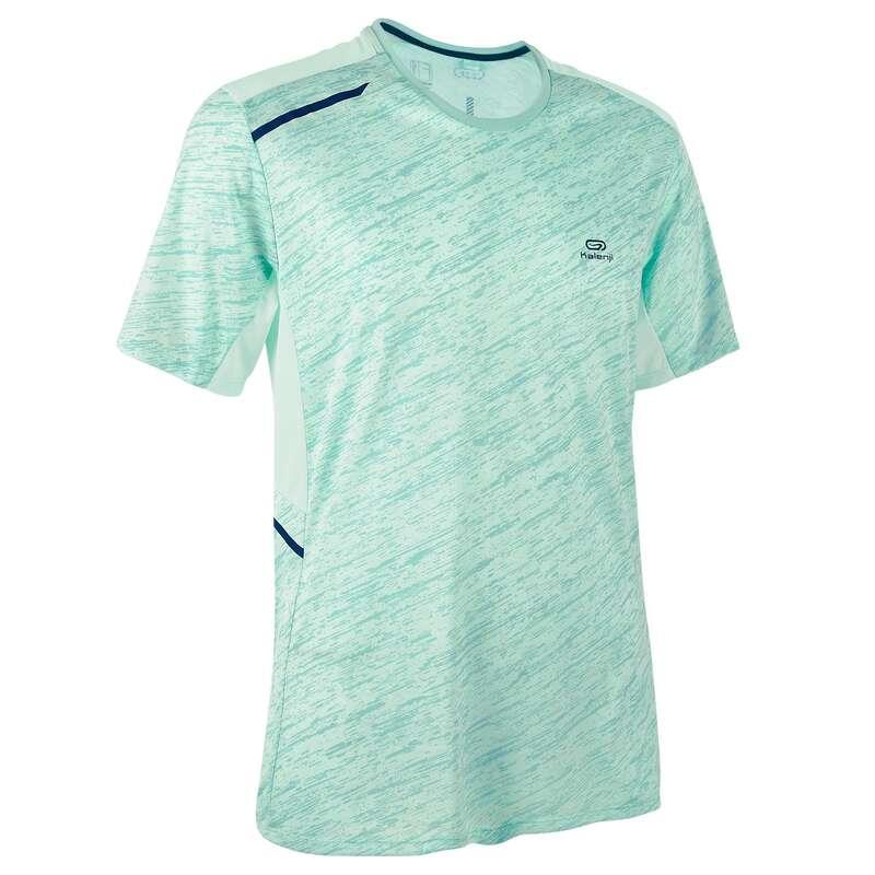 REGULAR MAN JOG WARM/MILD WTHR CLOTHES Clothing - RUN DRY+ TSHIRT M pastel green KALENJI - Tops