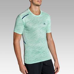 Camiseta Manga Corta Running Kalenji Run DRY+ Hombre Verde Pastel