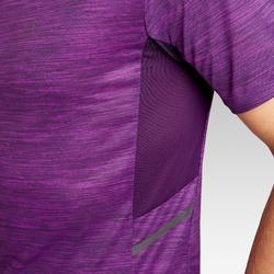 Camiseta Manga Corta Running Kalenji Run DRY+ Hombre Violeta