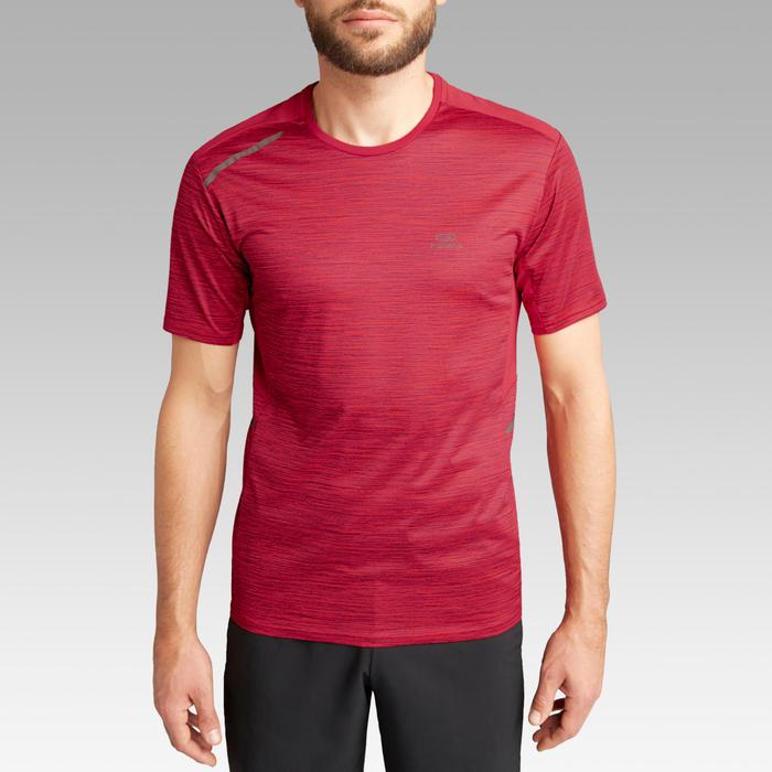 T-shirt voor hardlopen voor heren Run Dry+ gemêleerd rood