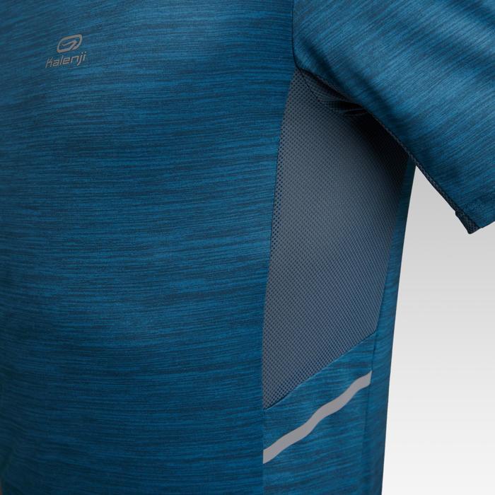 Camiseta Manga Corta Running Kalenji Run DRY+ Hombre Azul Petróleo