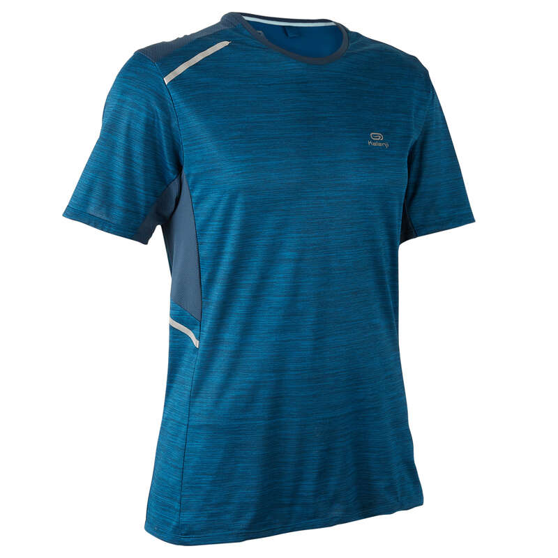 ABBIGLIAMENTO TRASPIRANTE UOMO Running, Trail, Atletica - T-shirt uomo RUN DRY+ petrolio KALENJI - Running, Trail, Atletica