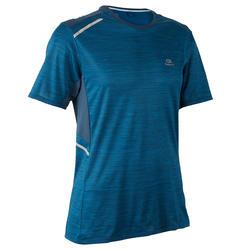 T-shirt hardlopen heren Run Dry+ petrolblauw