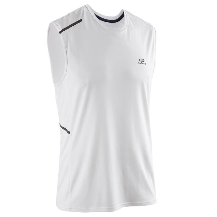 Mouwloos shirt voor hardlopen heren Run Dry+ zwart