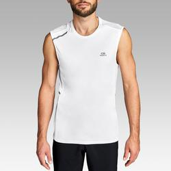Camiseta Sin Mangas Running Kalenji Run DRY+ Hombre Blanco