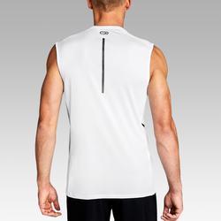 Mouwloos hardloopshirt voor heren Run Dry+ wit