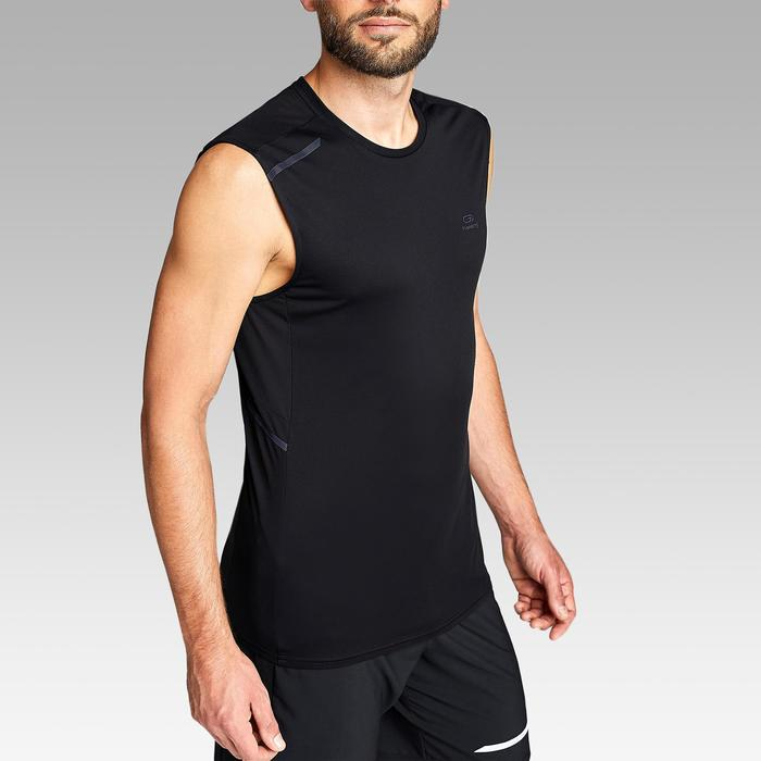 Camiseta Sin Mangas Running Kalenji Run DRY+ Hombre Negro