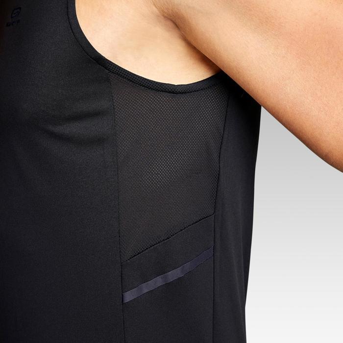 Mouwloos hardloopshirt voor heren Run Dry+ zwart