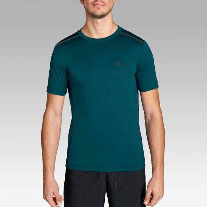 Hardloop T-shirt voor heren Run Dry+ Breath petroleum