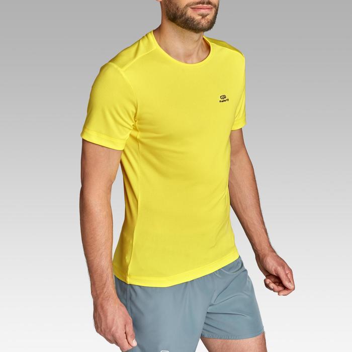 Camiseta Manga Corta Running Kalenji RUN DRY Hombre Amarilla