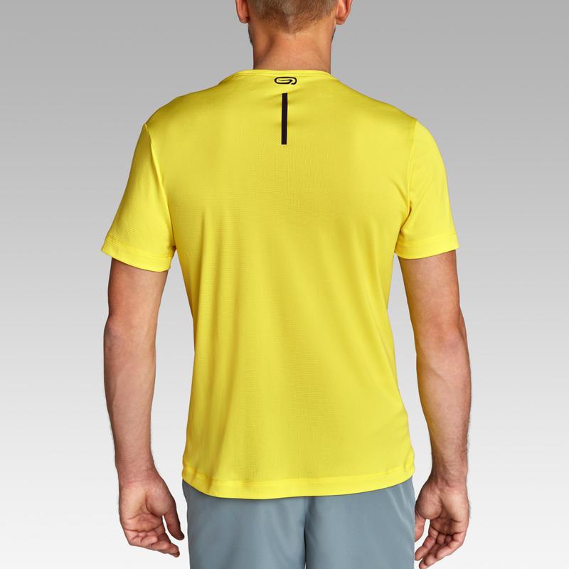 MEN'S BREATHABLE RUNNING T-SHIRT - LEMON YELLOW