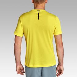 男款跑步T恤RUN DRY - 黃色