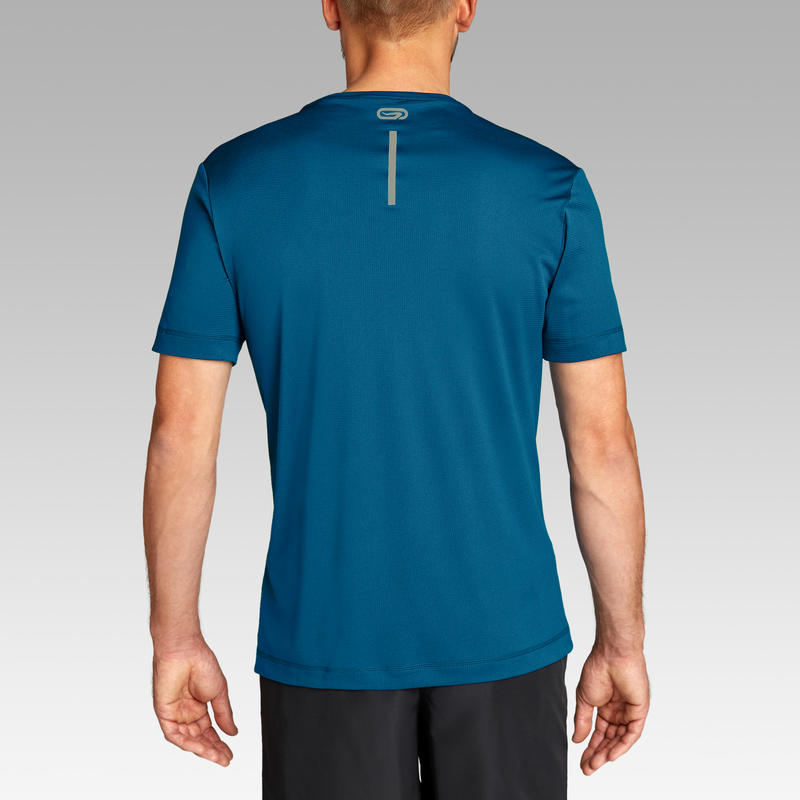 RUN DRY MEN'S RUNNING T-SHIRT - PETROL BLUE