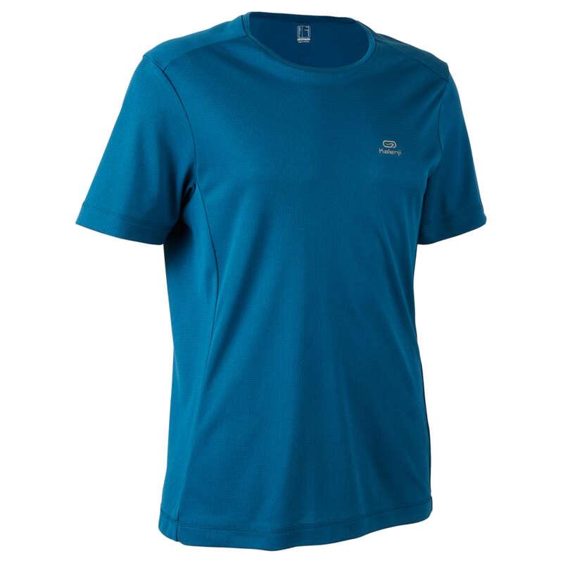 OCCAS MAN JOG WARM/MILD WTHR CLOTHES Clothing - RUN DRY T-SHIRT M Petrol blue KALENJI - Tops
