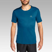 KALENJI DRY MEN'S BREATHABLE RUNNING T-SHIRT - PRUSSIAN BLUE