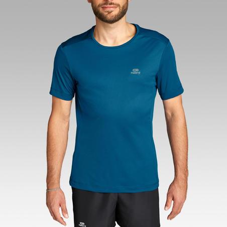 KALENJI DRY MEN'S BREATHABLE RUNNING T-SHIRT - PRUSSIAN BLUE