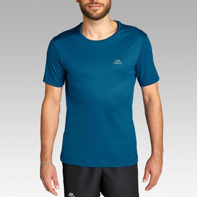 RUN DRY MEN'S RUNNING T-SHIRT - PETROL BLUE