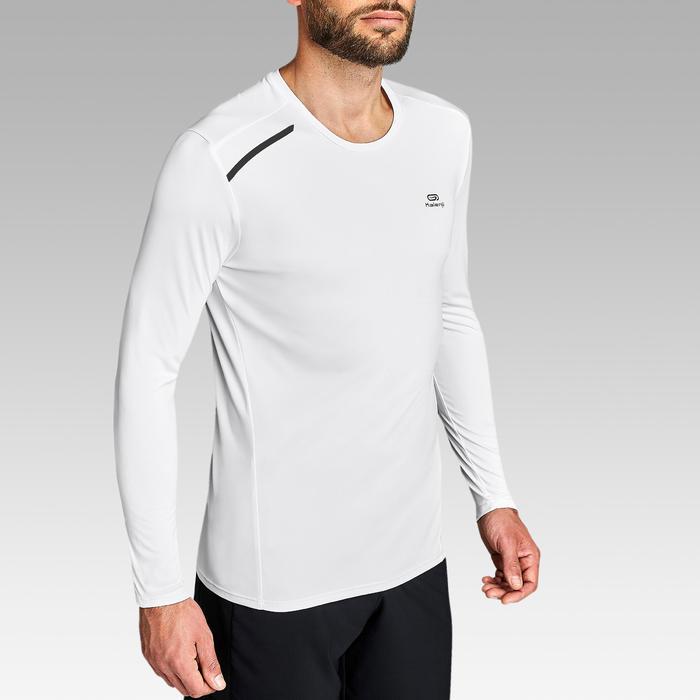 Camiseta Manga Larga Running Kalenji Sun Protect Hombre Blanca