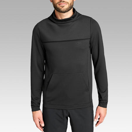 Run Dry Men's Running T-shirt With Hood - Black