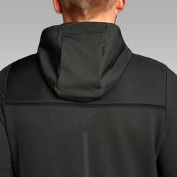 Hardloopshirt met lange mouwen voor heren met capuchon Run Dry zwart