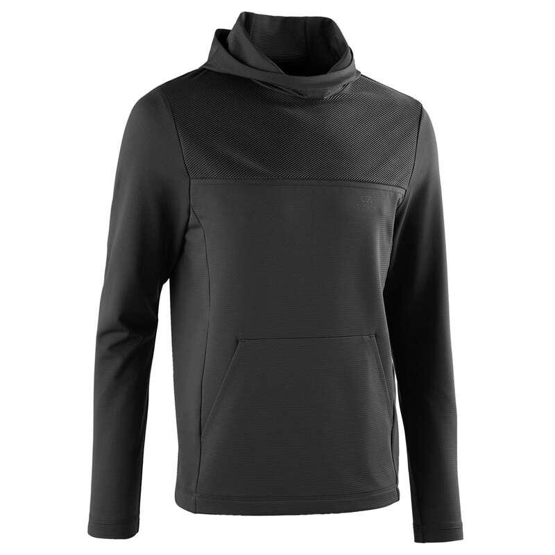 REGULAR MAN JOG WARM/MILD WTHR CLOTHES Clothing - RUN DRY+ MEN'S LS T-SHIRT GREY KALENJI - Tops
