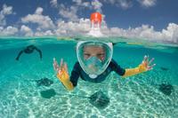 Máscara de Snorkel Subea Easybreath 500 Niños Azul