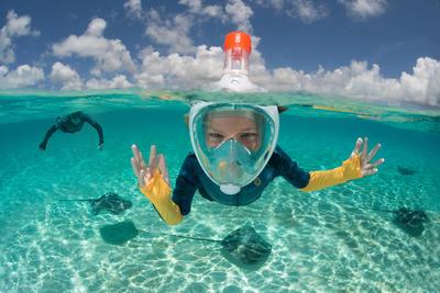 Masque de snorkeling en surface Easybreath Junior (6-10ans / taille XS) bleu