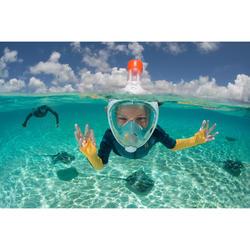 900 1.5mm kids neoprene snorkelling top blue yellow