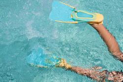 Palmes de plongée avec tuba SNK 520 JR orange Turquoise