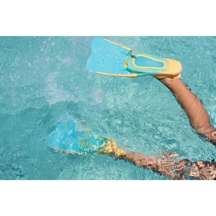 Snorkelvinnen SNK 520 voor kinderen oranje turquoise