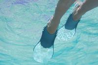 Palmes de plongée avec tuba enfant SNK 100 JR  Turquoise réglables